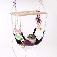Hanging Bed for Rat Hamster Rabbit Guinea Pig Ferret Hammock Toy House Cage #