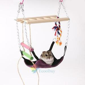 Hanging Bed for Rat Hamster Rabbit Guinea Pig Ferret Hammock Toy House Cage #