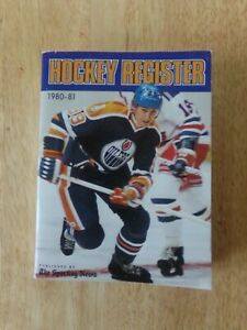 VINTAGE NHL 1980-81 Hockey Register Book WAYNE GRETZKY Cover 484 Pages RARE