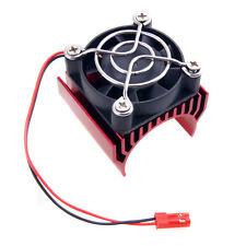 RC HSP 7020 Red Alum Heat Sink 5V Fan 40*40*10mm Cooling For 540 550 Motor