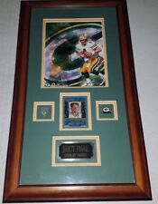 BRETT FAVRE SIGNED LASER INSCRIPTIONS CARD W/ 8X10 PHOTO AUTOGRAPHED PACKERS