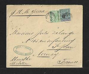 MAURITIUS TO FRANCE COVER 1906