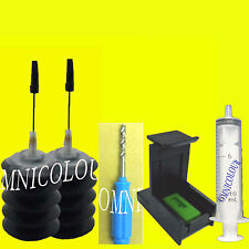 60ml black refill ink + stabilizer, clip for Canon PG-540 cartridge