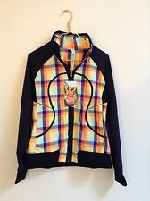 Lululemon Run: Track Attack Jacket Size 8 NWT Plaid Seawheeze