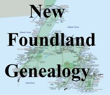 Newfoundland Genealogy Record Canadian Family Tree 60 Books Ancestry on CD DVD