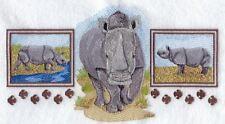 Embroidered Fleece Jacket - Asian Rhino Trio A4484 Sizes S - Xxl