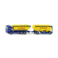 Siku 1809 Mercedes Arocs Futtermittel-Silo mit Anhänger blau/gelb 1:87 NEU!°