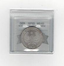 **1972D**Germany, Munich Olympics10 Mark, Coin Mart Graded **MS-63**