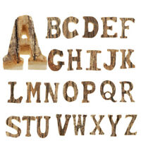 Wooden Standing Alphabet Signs Letters Craft Kids Educational Learning Toys