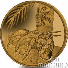 2018 Coconut Crab - TITANIUM Coin in BOX with COA British Indian Ocean Territory