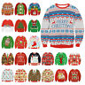CHRISTMAS Men Women Ugly Sweater Santa Sweatshirt XMAS Warm Tops Blouse Outfit