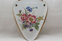 Wandteller - Florales Dekor m. Goldrand - Händel Porzellanmanufaktur - Bavaria