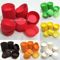 """6 Colors 1.5"""" 600pcs Muffin Cupcake Baking Cups Cases Paper Liners Cake Choose"""