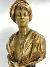 SUBLIME BUSTE FEMME TERRE CUITE ORIENTALISTE GOLDSCHEIDER Ca. 1900 - FIN XIXème