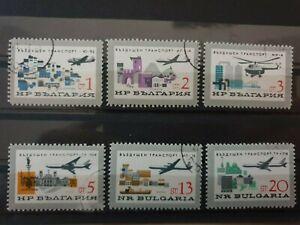 Bulgaria 1965 Bulgarian Civil Aviation. 6 stamp set CTO