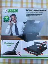 Swivel Laptop Stand - Adjustable Height & Angle Tabletop Laptop Cooling Riser