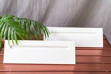 """White Wooden Floating Shelf Shelves 12"""" Pair of Two"""