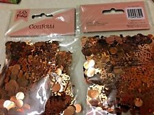 2 x Lets Party Rose Gold Glitter Table Scatter Confetti 50g Birthday/Wedding