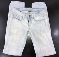 American Eagle Women's Size 0 Light Wash Skinny Stretch Distressed Jeans 26x31