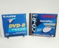 FUJIFILM DVD-R Disc 4.7 GB/GO 120 Min & VERBATIM 700MB 80 Min Blue CD-R 1X-16X