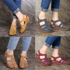 Womens Sandals Ladies Summer Closed-Toe Sandals Casual Foot Wedge Shoes Size 2-8