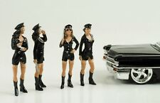 1:24 Girl Set Police Polizei 4 Figurines Figur Hot  Figures American Diorama