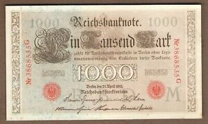 BILLET allemagne 1000 mark 1910