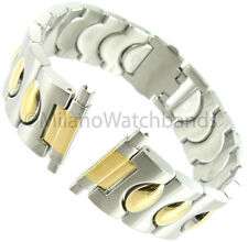 16-22mm Speidel Stainless Clasp Gold and Silver Two Tone Mens Watch Band 1691/15