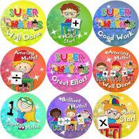 144 Maths Awards 30 mm Reward Stickers for School Teachers, Parents, Nursery