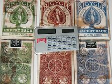 Lot 3 Decks Bicycle Expert Back with Calculator Bicycle Playing Cards New