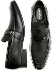 CALVIN KLEIN MENS SZ 16 BARTLEY DIAMOND LEATHER LOAFERS DRESS SHOES 34F1512