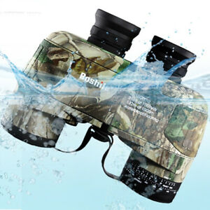 10X50 Binoculars Military Nitrogen Waterproof Telescope with Navigation Compass