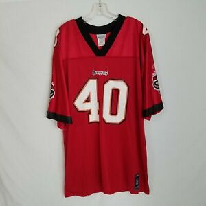 VTG Reebok Mens Mike Alstott Tampa Bay Buccaneers Football Jersey Size XL CL1HP