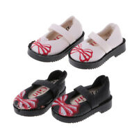 2 Pair PU Leather Flat Shoes for 12'' Blythe Momoko Doll Clothes Accessories