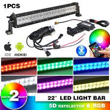 "New listing 5D+22"" 280W Rgb Led Light Bar Flash Multi Color Rgb Bluetooth vs 20"" Jeep Atv"
