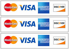 Credit Card Logos SMALL Vinyl Decal Glossy Stickers - 3 Sets