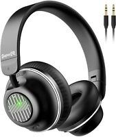 Active Noise Cancelling Headphones, SuperEQ S2 Bluetooth Headphones On Ear NEW
