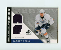 07-08 SP GAME-USED SPGU AUTHENTIC FABRICS DUAL JERSEY JARRET STOLL OILERS *68246