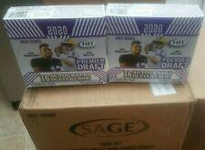 2020 SAGE HIT PREMIER DRAFT HIGH 16 Autos!  FOOTBALL HOBBY BOX 1 sealed  BOX