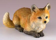 """Red Fox Figurine 5.25""""L Highly Detailed Polystone New In Box"""