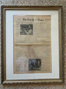 Cassius Clay (Muhammad ALI) defeats Sonny Liston New York Times 1964 newspaper