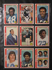 Baltimore Colts 1978 Topps lot of 9 - Excellent Condition