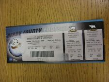 15/10/2000 Ticket: Derby County v Liverpool (Complete). This item has been inspe