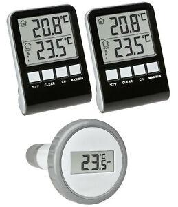 TFA 30.3067.10.99 Funk Poolthermometer Palma Mega Schwimmbadthermometer digital