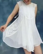NEW Anthropologie Madrid Swing Dress Embroidered Ivory Sz 10P MP- HD In Paris