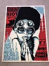 Late Hour Riot Print by Shepard Fairey Signed & Numbered Poster Obey LOW # Rage