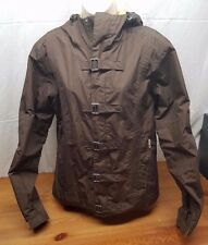 Burton Brown Snowboarding Jacket Woman's size L Large With Hood Cool Buckles