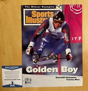 Tommy Moe Signed Sports Illustrated Cover Beckett BAS COA Winter Olympics Skiing