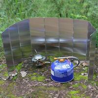 Zusammenklappbares Windschutzscheibe  Aluminium Grill Scheibe  für Picknick 10X