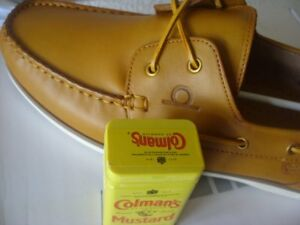 Chatham Newton Yellow size EU50 / UK15 men's premium leather UK MADE boat shoes
